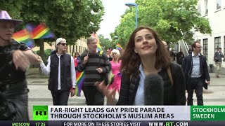 Download Swedish Far Right LGBT march in Muslim neighborhood Video