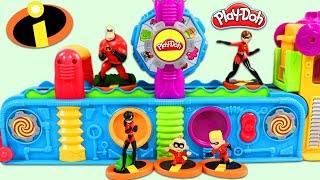 Download The Incredibles Characters Visit Play Doh Mega Fun Factory Playset! Video