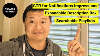 Download CTR for Notifications, Expandable Description Box, Searchable Playlists, and Snapshot on Mobile! Video
