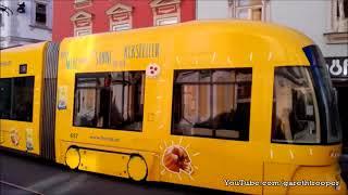 Download HGL Graz Trams at Annenstraße in Graz,Austria Video