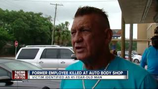 Download Man killed after shooting outside Tampa auto body shop Video