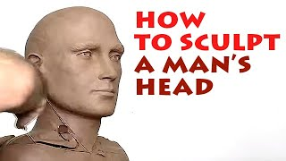 Download Alexander Cherkov demonstrates male head sculpture of clay - step by step Video