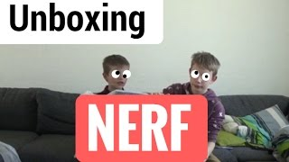 Download NERF!! Unboxing med store bror. Video