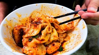 Download Chinese Street Food SPICY Chengdu Wontons | Sichuan Street Food Video