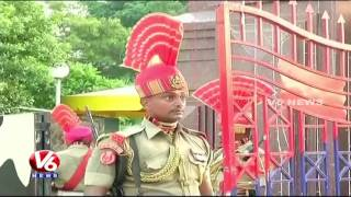 Download 70th Independence Day Celebrations At Wagah Border || V6 News Video