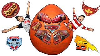 Download Disney Cars Lightning Mcqueen and Mack Giant Surprise Egg Opening Video for kids Video