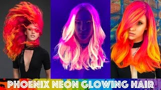 Download Phoenix Neon Glowing Hair Video
