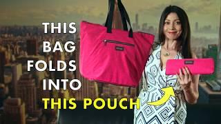 Download The Perfect Travel Companion - Biaggi's Foldable Shopper Tote! Video