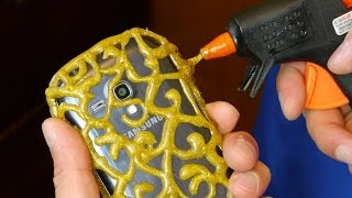 Download DIY PHONE CASE Life Hacks - Hot Glue Craft Video