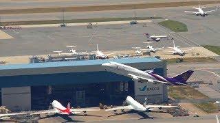 Download Hong Kong Airport Aircraft movements with ATC + Thai 747 Video