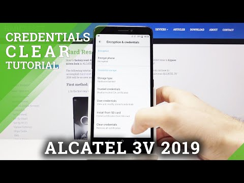 How to Clear Credentials in ALCATEL 3V 2019 – Delete Credentials