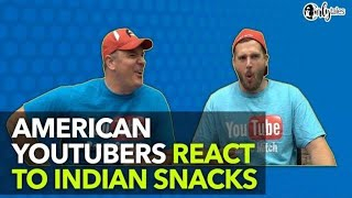Download Americans React To Indian Snacks - Randy Santel Special - You VS Food - Episode 4 | Curly Tales Video