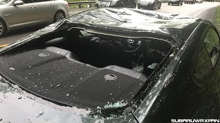 Download Mustang Crushed by a Tree while Driving... Video