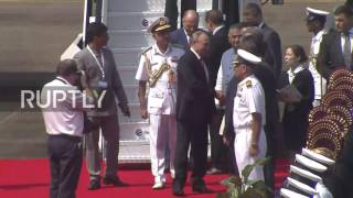Download India: Putin touches down in Goa for 8th BRICS summit Video