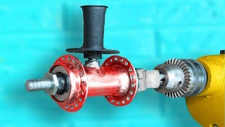 Download Awesome Device of the Bicycle Hub and Drill ! Video