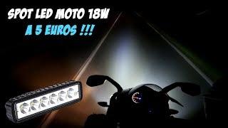 Download Spot Longue portée LED MOTO 18w - 12v à 5 euros !!!! Video