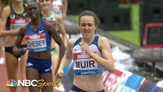 Download 2019 Diamond League: Laura Muir wins women's 1500m in London | NBC Sports Video