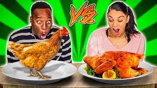 Download RAW VS COOKED FOOD CHALLENGE! Video