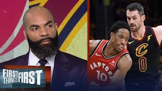 Download Carlos Boozer's takeaways from the Cavaliers sweeping the Raptors | NBA | FIRST THINGS FIRST Video