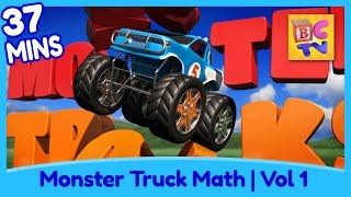 Download Learn Math and Counting Monster Trucks for Kids | Compilation Vol 1 Video