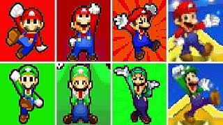 Download Evolution of Mario & Luigi Series VICTORIES and LEVEL UP Screens (2003-2017) Video