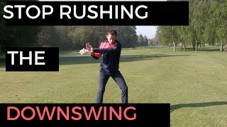 Download STOP RUSHING THE DOWNSWING TRICK Video