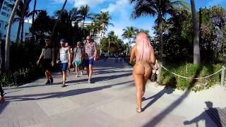 Download Spectacular South Beach Walk, HD Action Camera on Bike Rental, Miami Beach, Florida Video