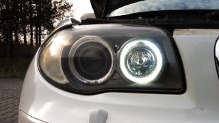 Download Don't use those H8 LED bulbs for BMW halo rings Video