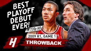 Download 20 Yr-OLD Derrick Rose GREATEST Playoff DEBUT EVER! Full Game 1 Highlights vs Celtics 2009 - 36 Pts! Video