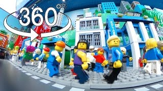 Download Street View of City made of LEGO Bricks Video
