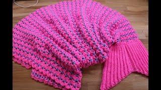 Download Cobija Manta Cola de Sirena Crochet Video