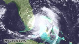 Download Hurricane Katrina Satellite Timelapse (2005.08.24 - 2005.08.30) [720p] Video