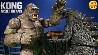 Download New King Kong Skull Island Mega Figure Vs Godzilla Jurassic Park Unboxing Video