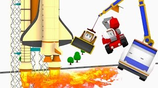 Download The speeding reactor plane ! Learn with Tiny Trucks: bulldozer, crane, excavator Educational cartoon Video
