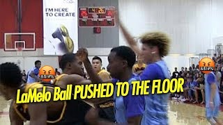 Download LaMelo Ball Gets Pushed to the Floor by Jovan Blacksher Then Teammate stands up for Lamelo! Video