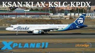 Download X-Plane 11 | FFA320 BSS Sound pack debut!!! | KSAN-KLAS-KSLC-KPDX | A320 | PilotEdge Video