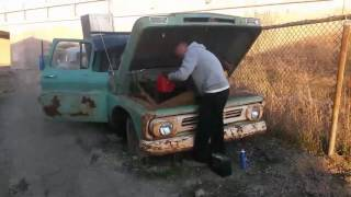 Download 1962 Chevy C10 first start in over 15 year Video
