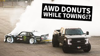 Download Hoonicorn Townuts! 1400hp AWD Mustang Does Donuts While Being Towed Video