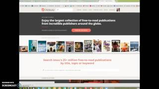 Download Upload a document to issuu Video