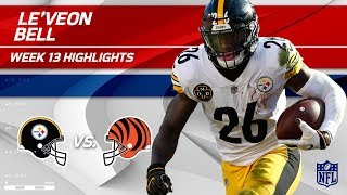 Download Le'Veon Bell's 182 Total Yards & 1 TD vs. Cincinnati! | Steelers vs. Bengals | Wk 13 Player HLs Video