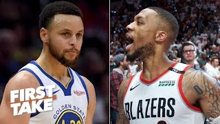 Download Damian Lillard is the closest player to Steph Curry in the NBA - Max Kellerman   First Take Video