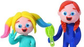 Download BABY ELSA NEW HAIR STYLES ❤ Spiderman, Hulk & Frozen Elsa Play Doh Cartoons For Kids Video