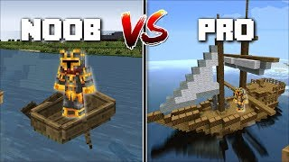 Download Minecraft NOOB VS PRO BOAT MOD / FIND OUT WHICH PERSON HAS THE BEST BOAT !! Minecraft Mods Video