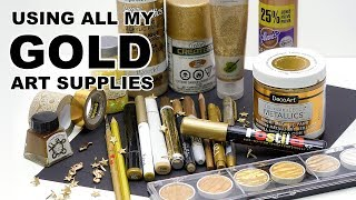 Download Creating Art Using All My GOLD Art Supplies Video