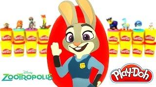 Download Zootropolis Hayvanlar Şehri Judy Hopps Sürpriz Yumurta Oyun Hamuru - Disney Oyuncackları LPS MLP Video