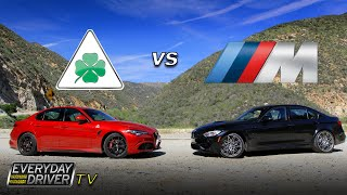 Download Alfa Giulia QV challenges BMW M3 on Amazing Road - Everyday Driver TV episode Video