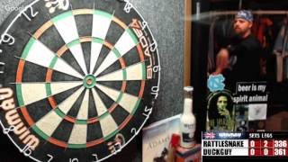 Download Rattlesnake vs DuckGuy -WDA Darts Video