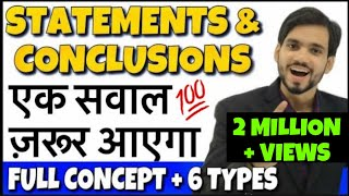 Download Best Statement and Conclusion Reasoning Tricks | DSSSB, RRB Group D, Bank PO, KVS, CTET Video
