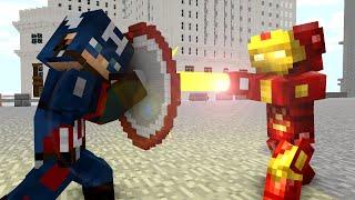 Download Ironman vs Captain America - Craftronix Minecraft Animation Video