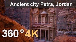 Download 360 video, Ancient city Petra, Jordan. 4K aerial video Video